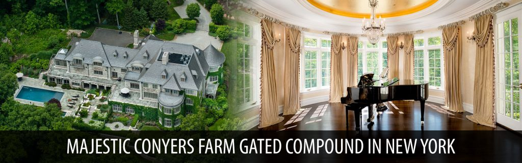 Majestic Conyers farm gated compound in new york